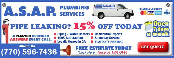 Atlanta ga plumber deals discounts coupons atlanta ga for Plumbing cost estimator free